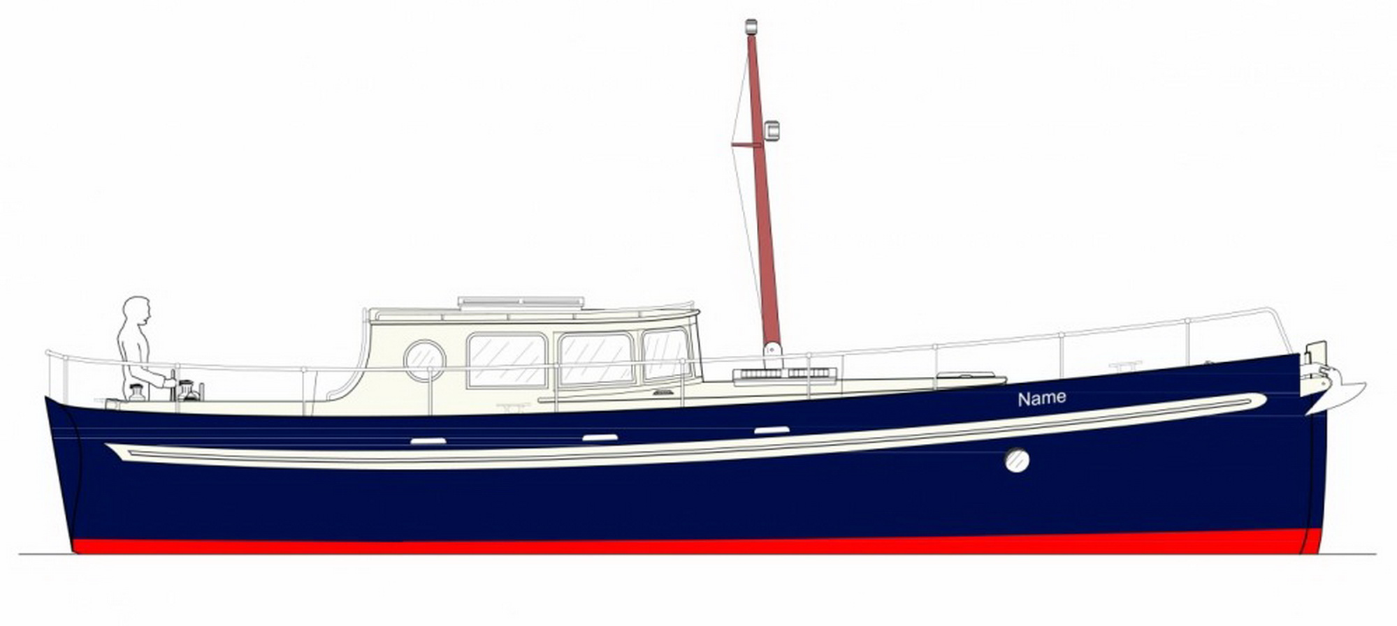 Goeree 1270 Motor Yacht Motor Sailer Olivier Van Meer Design