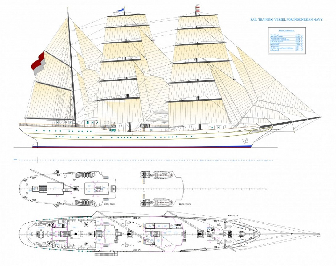 111M Sail training vessel