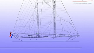 New build 74' Alden Inspired Schooner Under costruction