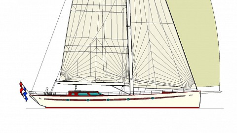 82' sloop or cutter Fast & Able